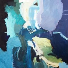 Blåbär och mjölk, 100x130 cm