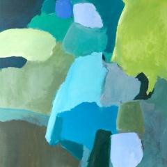 Inkommande grön, 100x130 cm