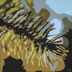 Granskott sensommar, 45x45 cm