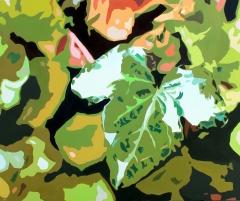 Green economic world map, 120x100 cm