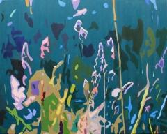 Partykväll hos gräsen, 100x80 cm