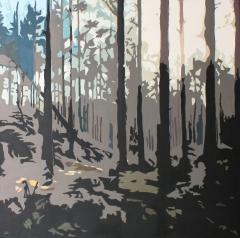 Produktionsskog, 80x80 cm